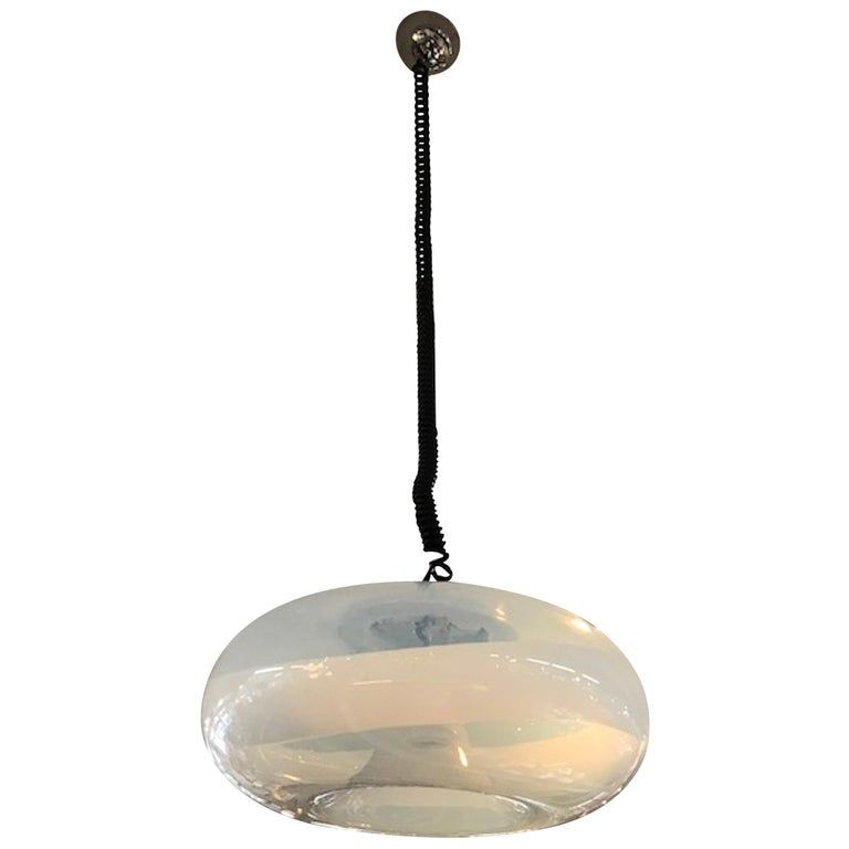 1stdibs Chandelier Pendant 1970s Hand Blown Light Soothes