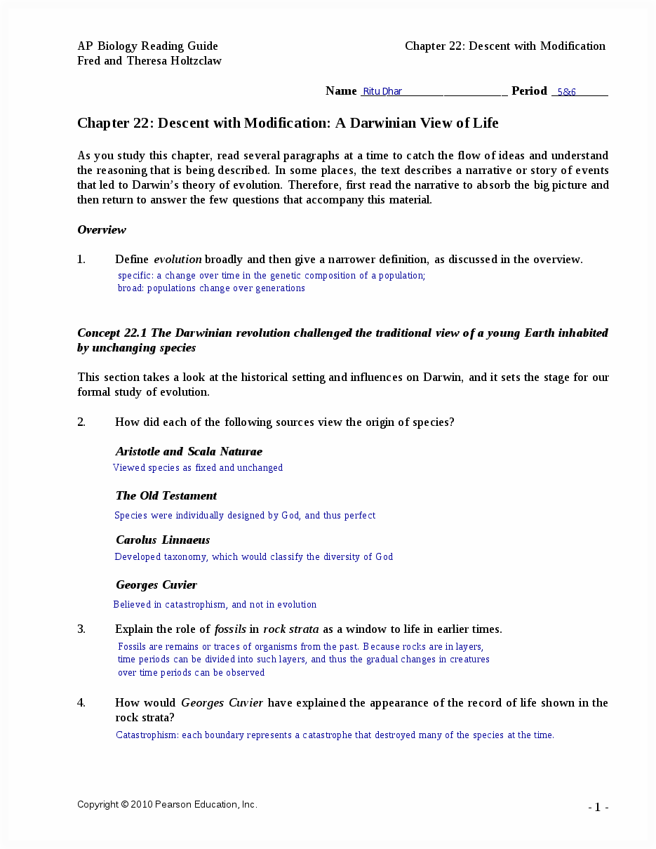 Chapter 22 reading guide - AP Biology Reading Guide Chapter 22 ...