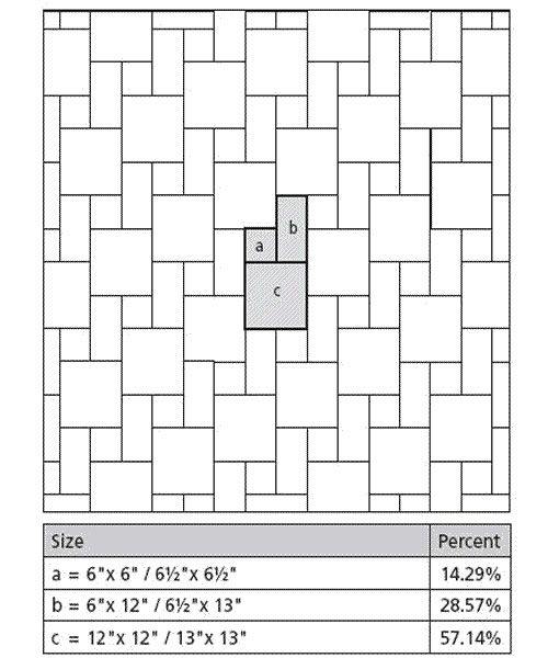 Tile layout patterns using 3 tile sizes in the plan by for Tile layout program