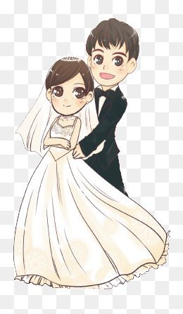 Cartoon Bride And Groom Png And Vector Wedding Couple Cartoon Marriage Cartoon Cartoon