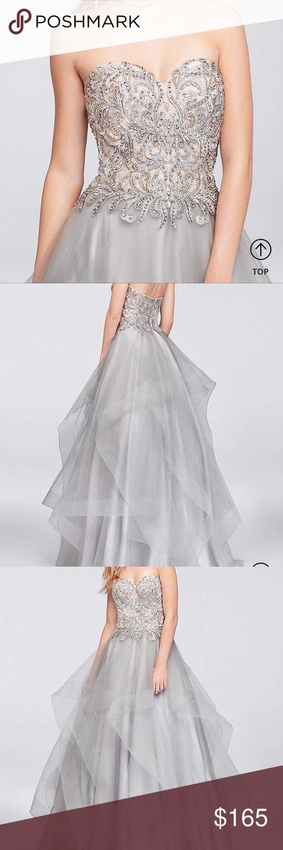 Davidus bridal prom dress nwt my posh picks pinterest bridal