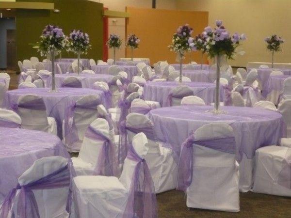 Lavender Wedding Reception Beautiful White Share