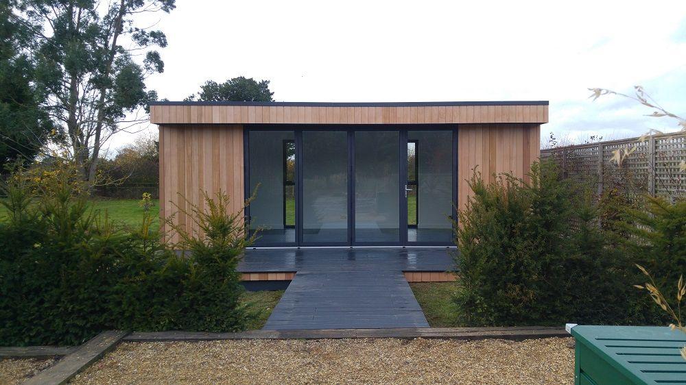 Nice Bright Open Space For A Garden Gym Garden Gym Ideas Modern Garden Design Modern Garden