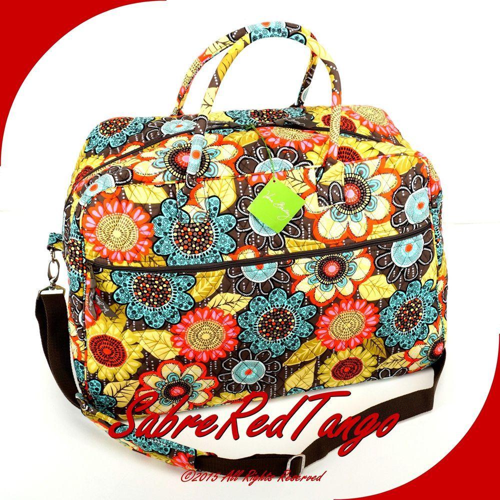Vera Bradley Quilted Grand Traveler Travel Bag Floral Flower Shower | eBay