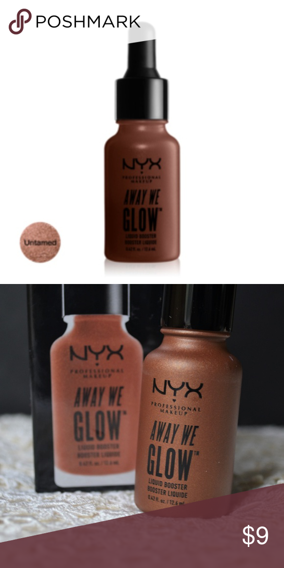 Nwt Nyx Away We Glow Liquid Booster Untamed Nwt Sealed Nyx Away We Glow Liquid Booster Awglb04 Untamed Nyx Makeu Nyx Away We Glow Clothes Design Things To Sell