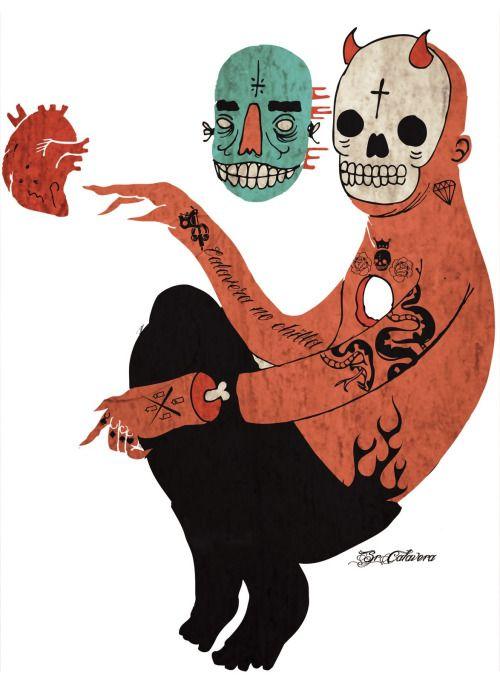 Calavera No Chilla Illustration In 2019 Pinterest Art