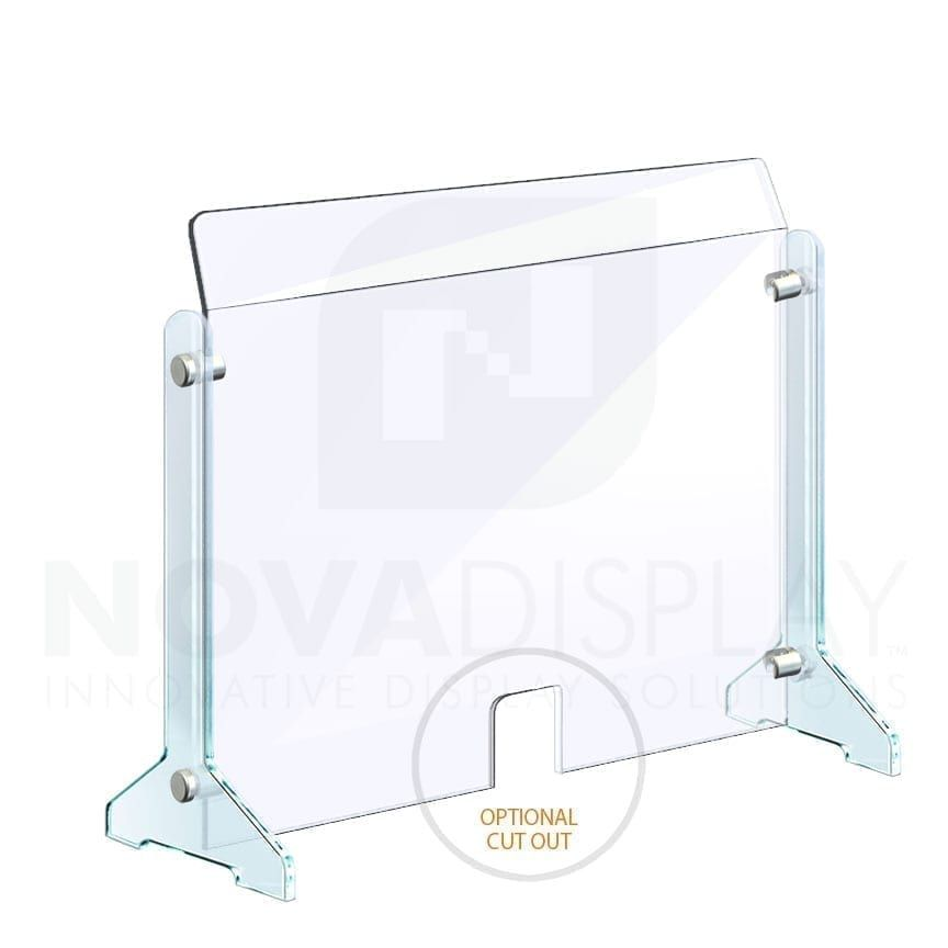 Countertop Acrylic Sneeze Guard Freestanding Supported With