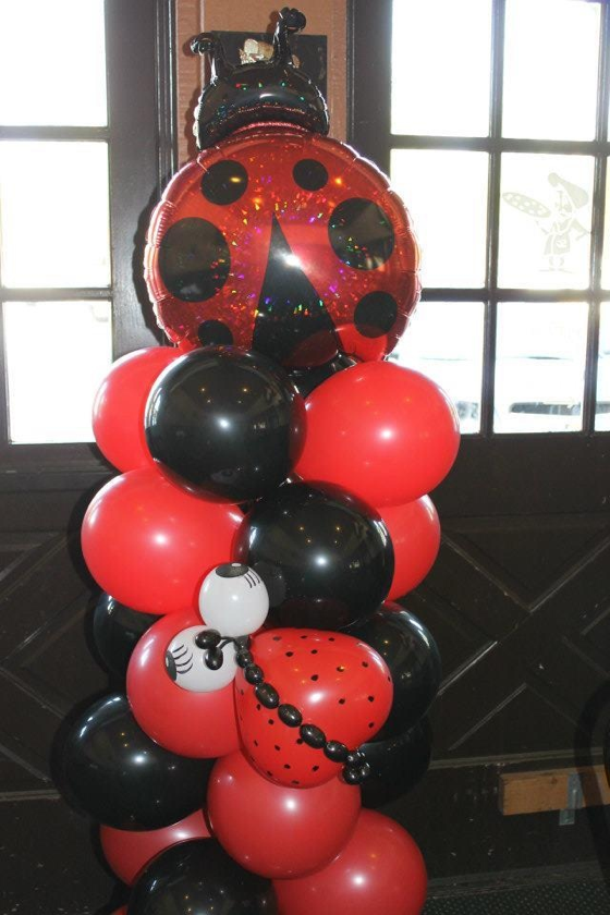 Ladybug balloon column | Projects to Try | Pinterest ...