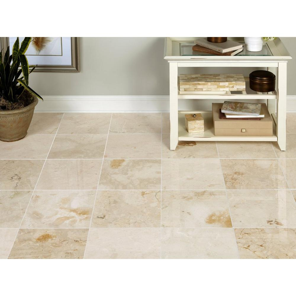 Tuscany Cream Polished Marble Tile Floor Decor In 2020 Polished Marble Tiles Marble Tile Floor Marble Tile