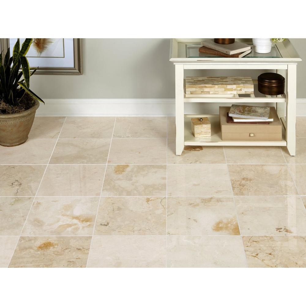 Tuscany Cream Polished Marble Tile Floor Decor In 2020 Polished Marble Tiles Marble Tile Floor Marble Tile