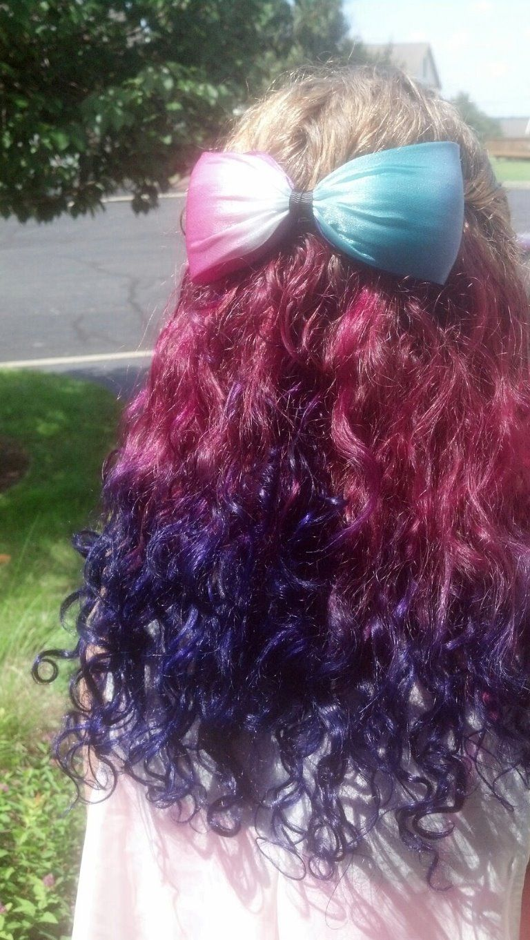 me again with pink and purple ombrea