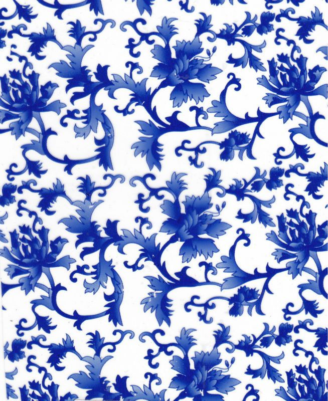 NO F001 Blue-and-White Porcelain Design Water Transfer