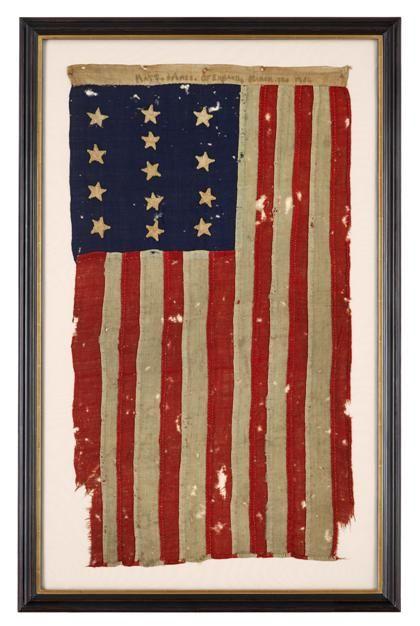 c9787cb9475b Rare thirteen star American Revolutionary Flag
