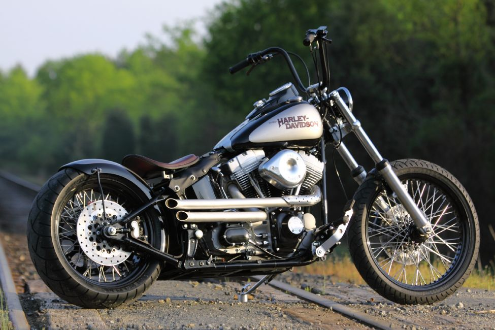 New build old,school style Softail bobber from Southeast Custom Cycles in  Concord, NC.