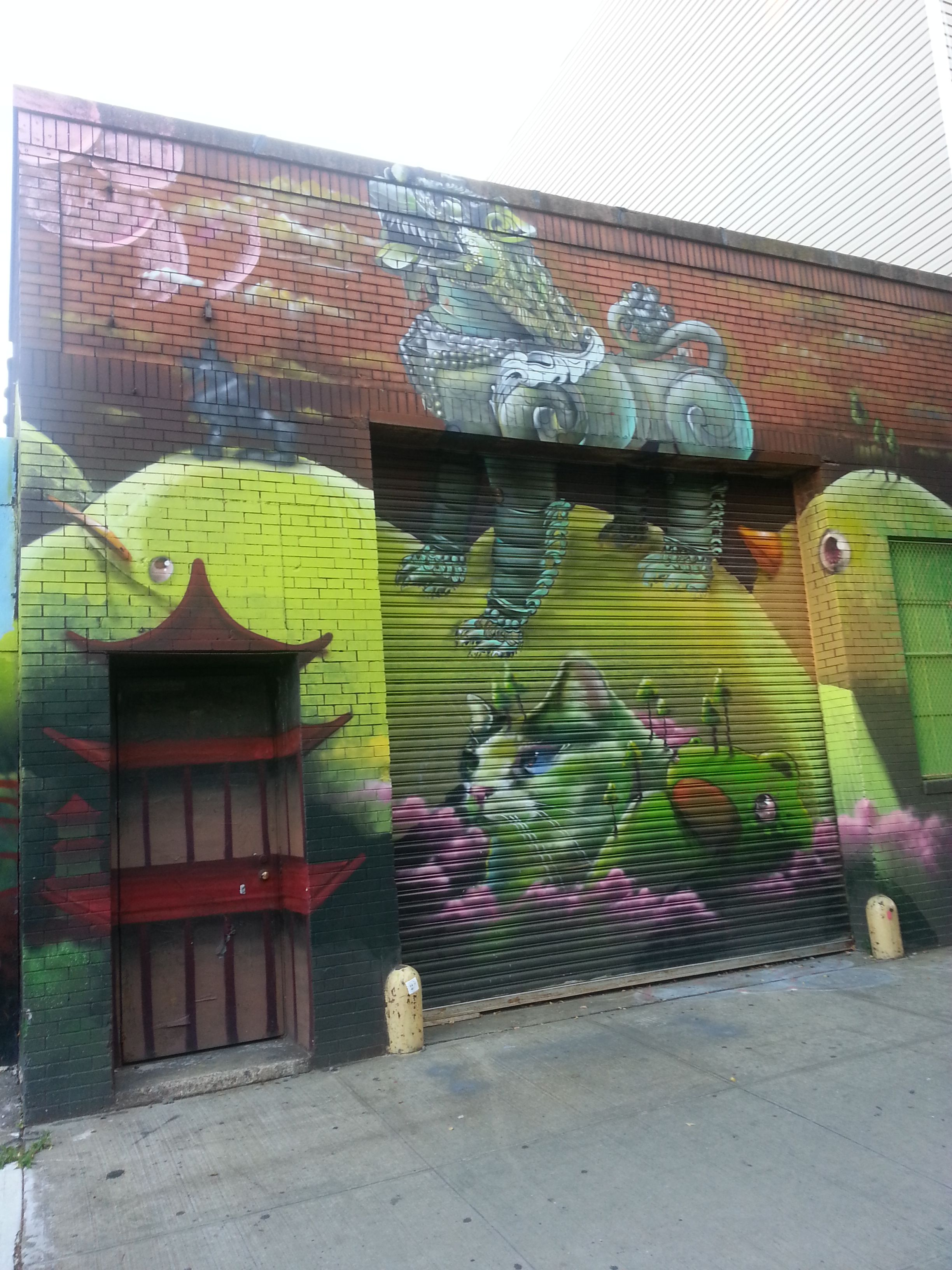 Dojo building art, Williamsburg, Brooklyn, NY