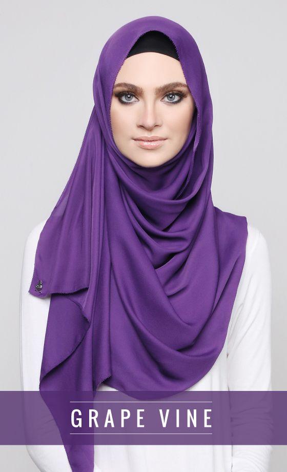 Georgette   Grape Vine   Purple dress accessories. Beautiful hijab. Hijab