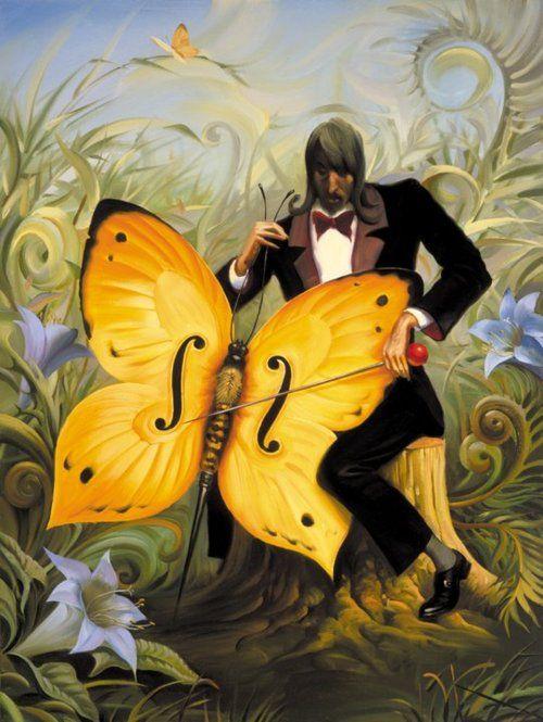 """The Cellist"" by Vladimir Kush"