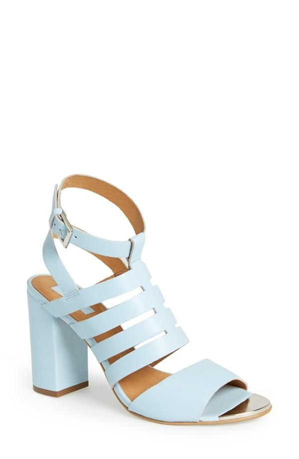 99d1a215d1a Can t wait to pair this pale blue sandal with a cute midi skirt ...
