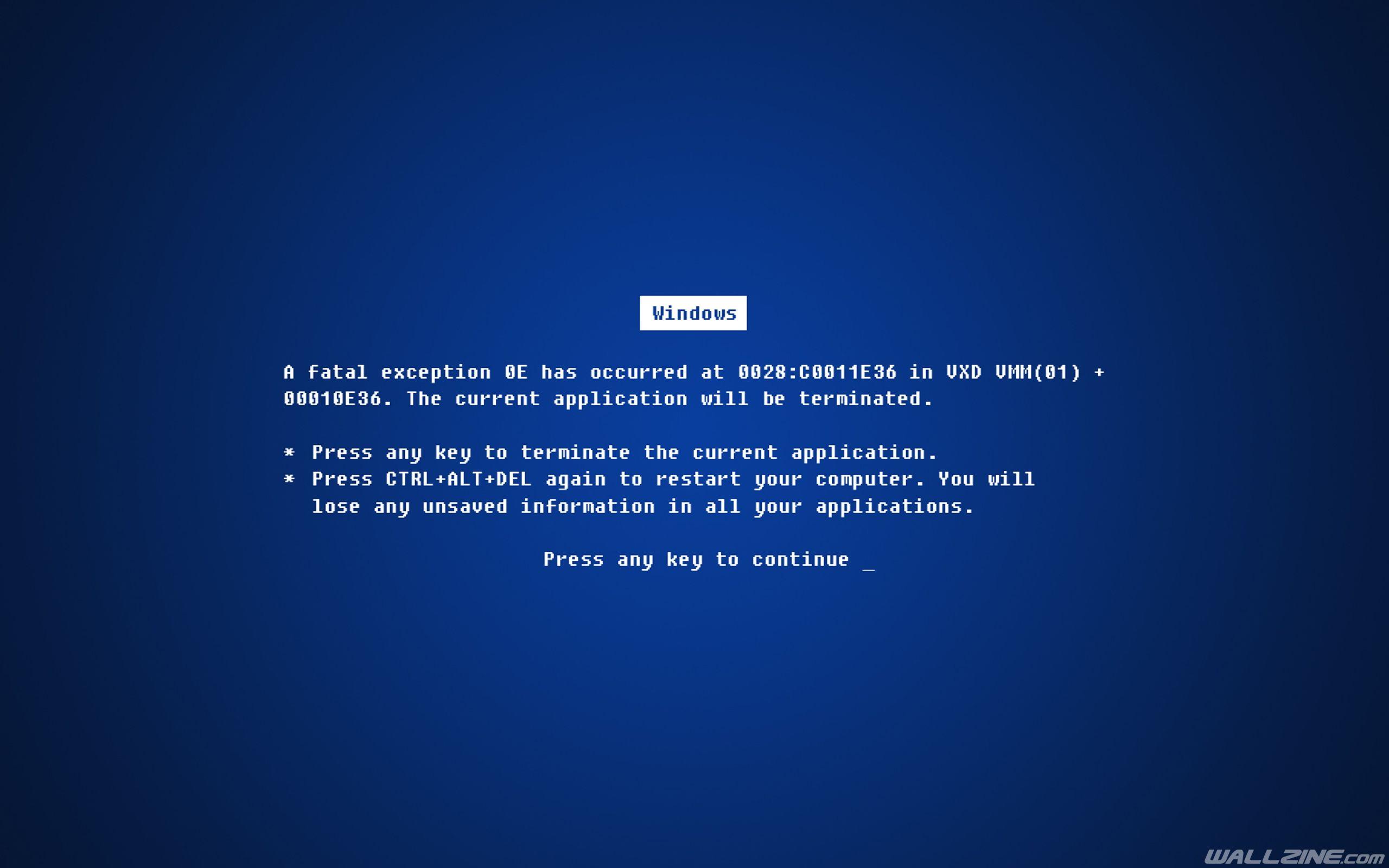 Windows Fatal Error Wallpaper | HD Desktop Wallpapers | Pinterest ...
