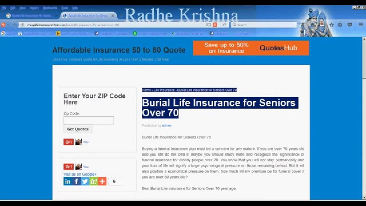 Life Insurance Over 50 Quotes Cheap Burial Life Insurance For Seniors Over 70  Burial Insurance