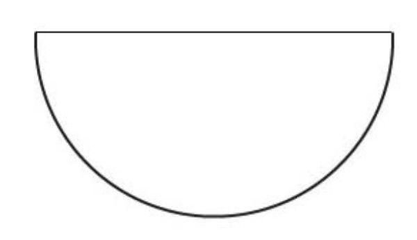 2 Half Circle Circle Template Paper Piecing