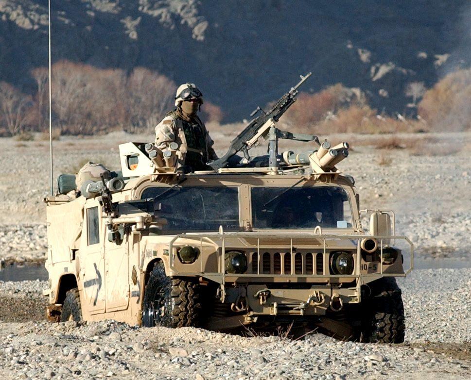 Military Humvee in action Military Humvee Military