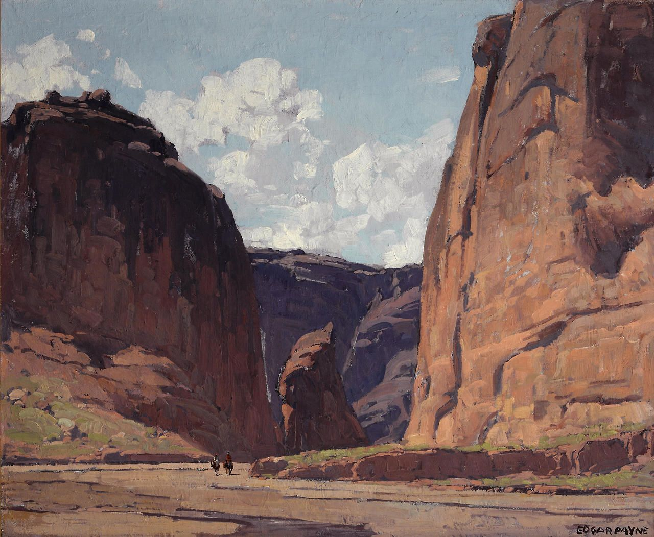 Pintura Paisajista Edgar Payne Canyon Gateway Mountains Pinterest