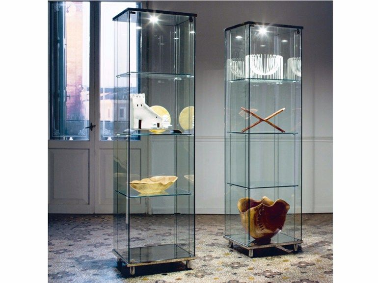 Crystal Display Cabinet With Integrated Lighting Charme By Cattelan Italia Design Ca Nova