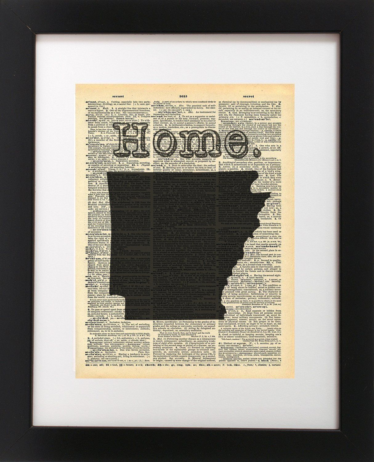 Arkansas state vintage map vintage dictionary print x inch home