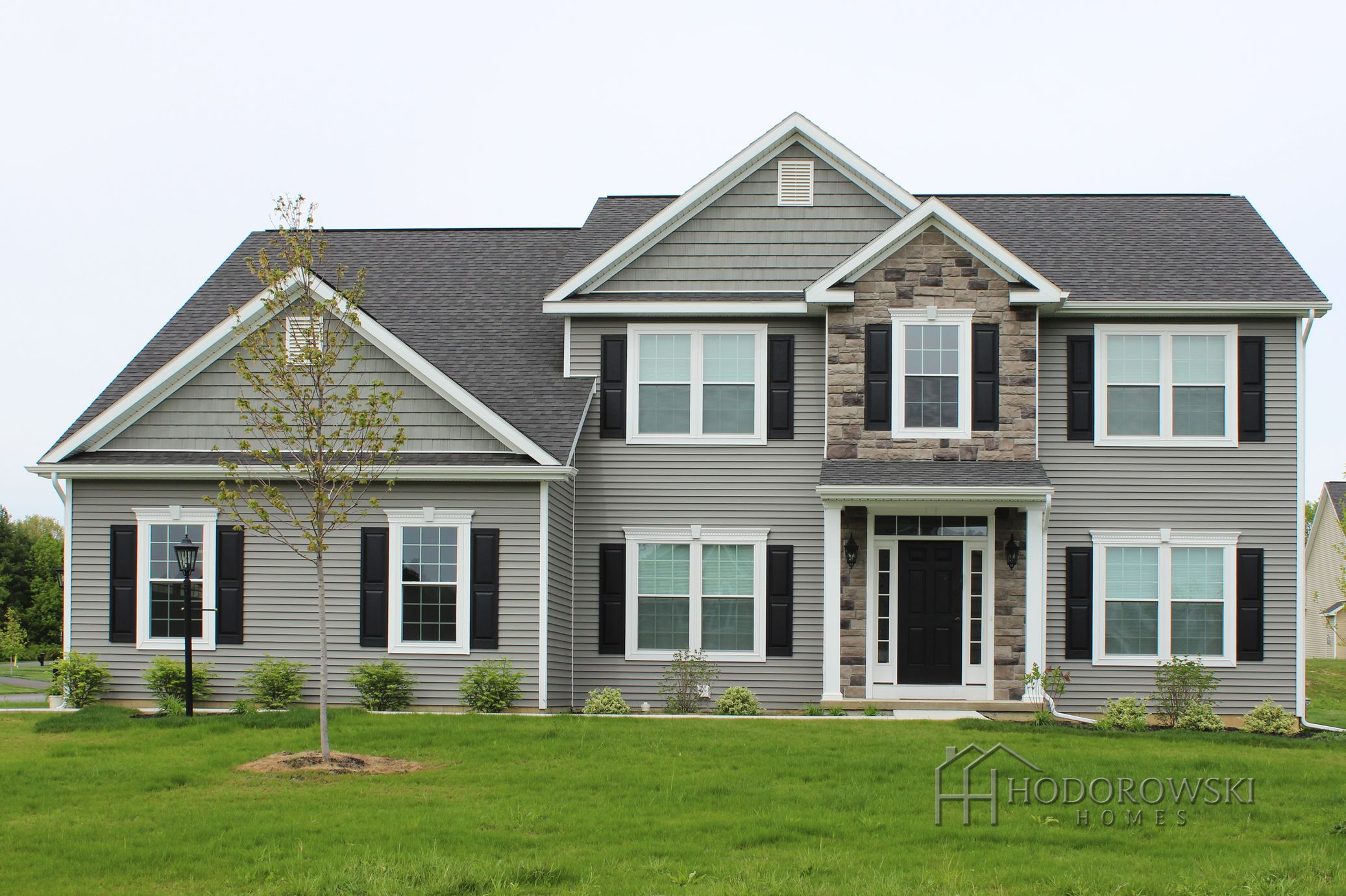 Here is our augusta house design with our most popular for Popular vinyl siding colors