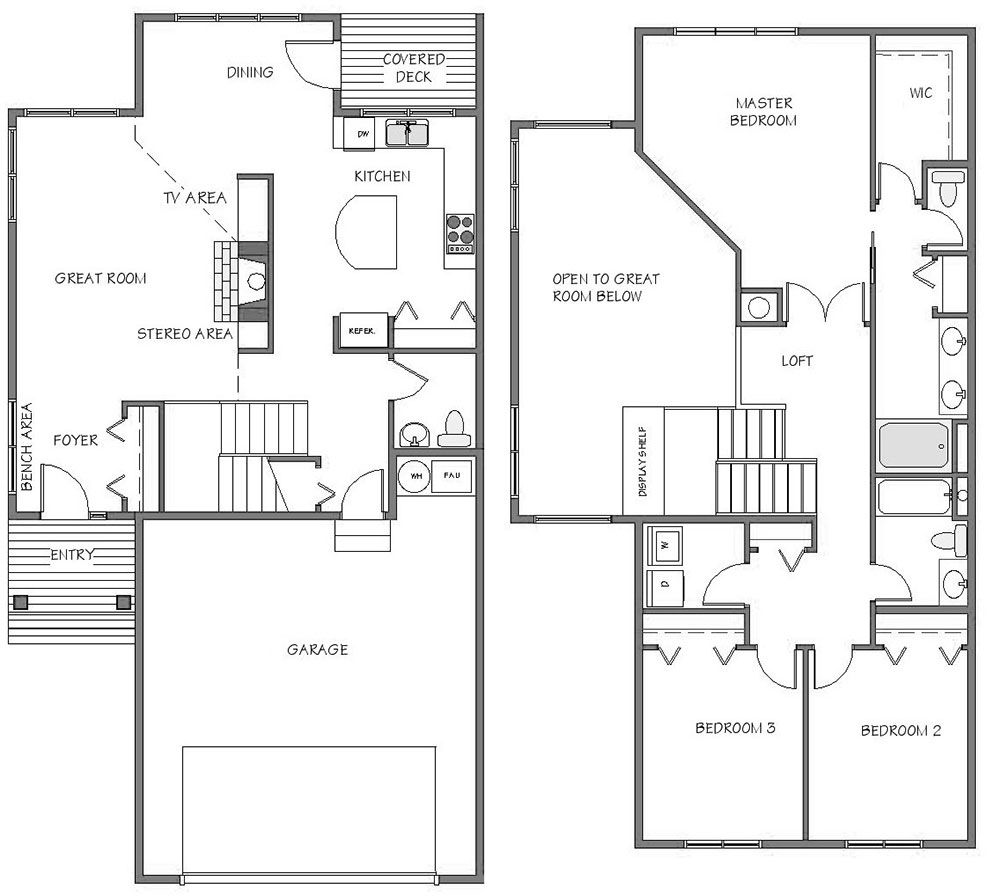 2 Car Garage Townhome Floor Plans Google Search 8