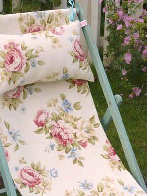 Merveilleux Floral Chair | Painted Floral Deck Chair