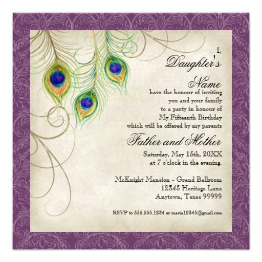 >>>best recommended          Peacock Feathers Purple Damask Quinceanera Party Custom Invitations           Peacock Feathers Purple Damask Quinceanera Party Custom Invitations We provide you all shopping site and all informations in our go to store link. You will see low prices onThis Deals   ...Cleck Hot Deals >>> http://www.zazzle.com/peacock_feathers_purple_damask_quinceanera_party_invitation-161751704160656230?rf=238627982471231924&zbar=1&tc=terrest