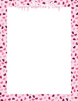 Happy Valentines Day Border  Frames  Pinterest  Crafts