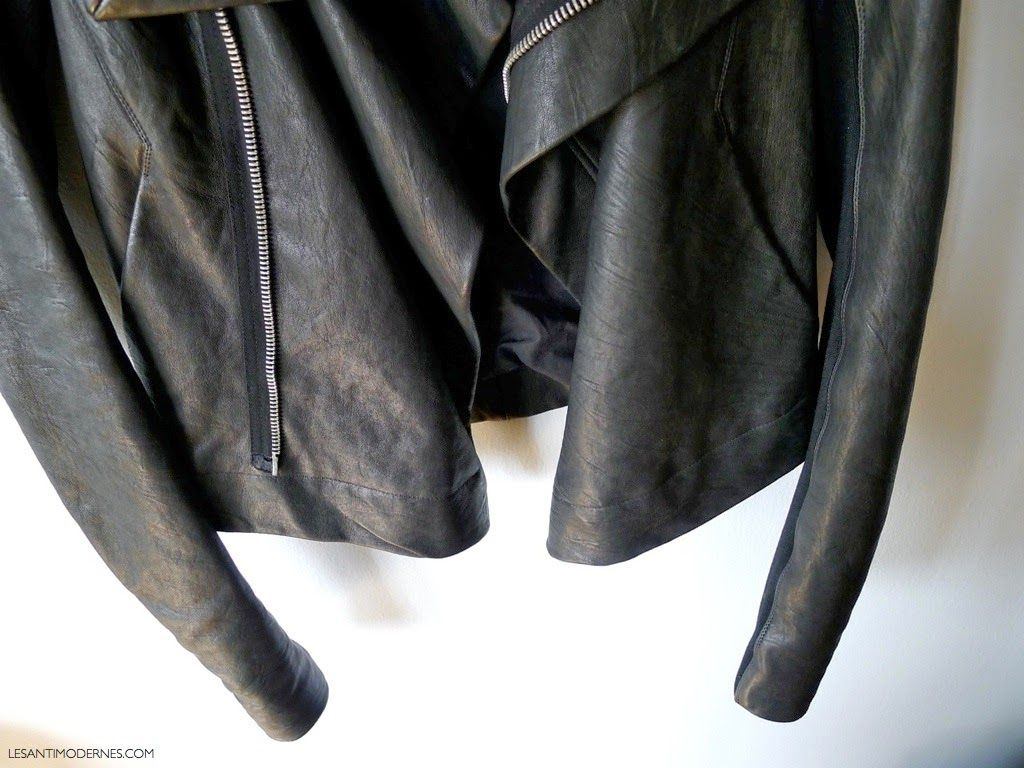 review the Rick Owens classic leather jacket Classic