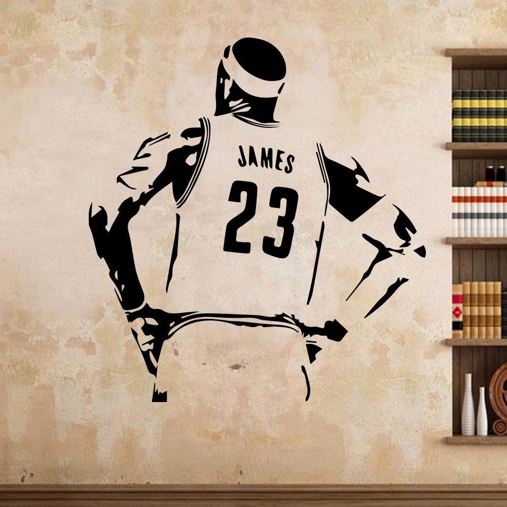 Us 283 Basketball Star Lakers Lebron James Lbj Wall