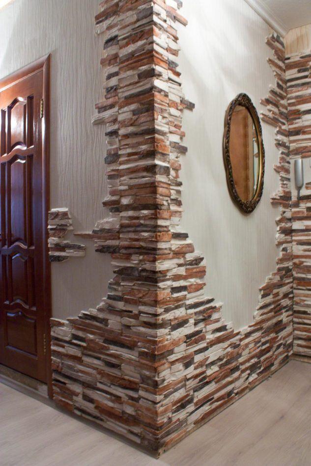 14 Wunderbare Ideen Die Wande Mit Steinen Zu Dekorieren Wandgestaltung Steinwand Wohnzimmer Wandverkleidung Stein