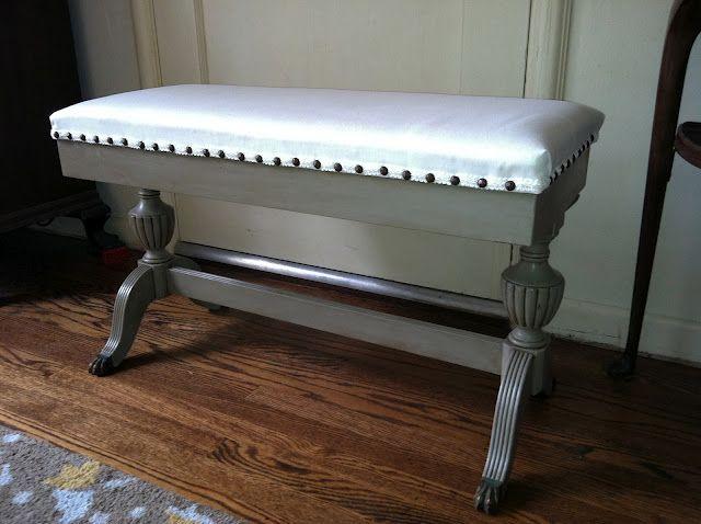Antique Piano Bench Down The Road Piano Bench Piano Stool Refinishing Furniture