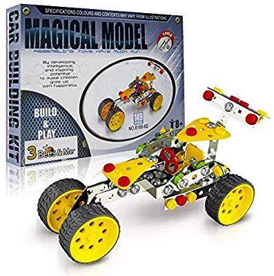 13a0dc4b8425 Amazon.com  3 Bees   Me STEM Car Building Toy Kit - DIY Construction ...