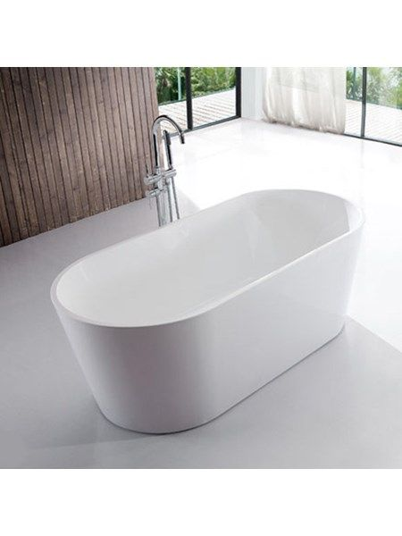 badekar 120 Badekar   Oval Ultraslim 120   fritstående badekar   Møblar og  badekar 120