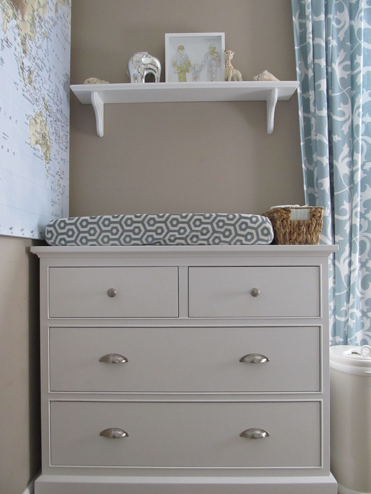 S Travel Theme Nursery Blue White And Gray