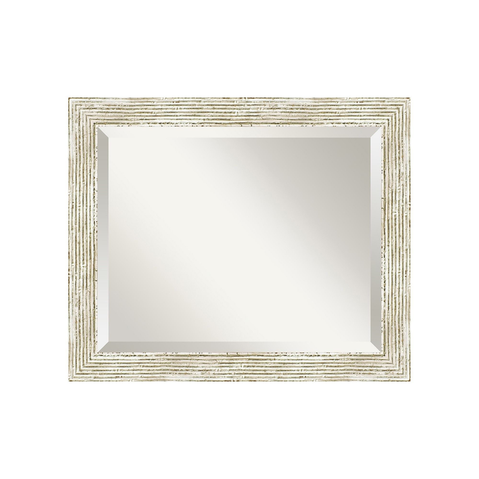 Amanti art cape cod whitewash distressed wood wall mirror white