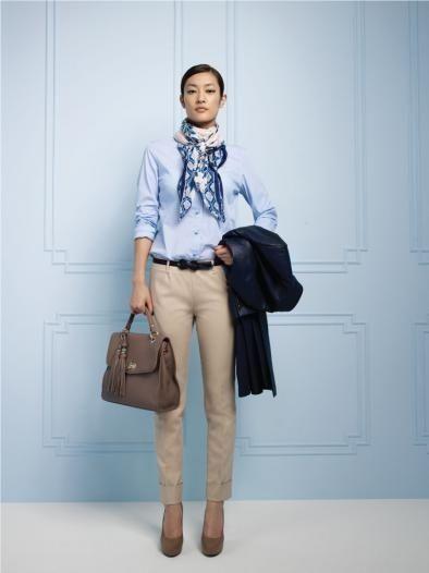 Tres Gimnasio Municipios  Blusa cielo y pantalon beige | Work fashion, Fashion, Casual fashion