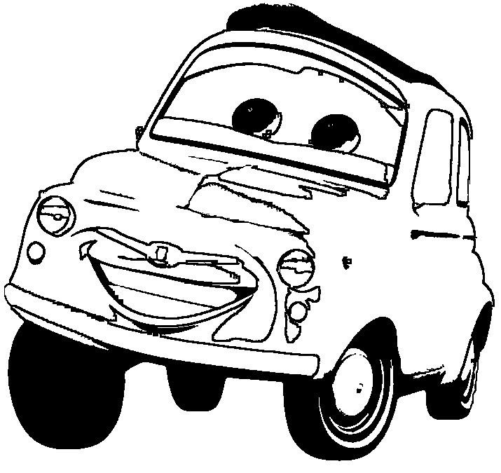 Cartoon Cars Luigi Coloring Pages Coloring Pages {Cars - copy coloring pages transportation vehicles