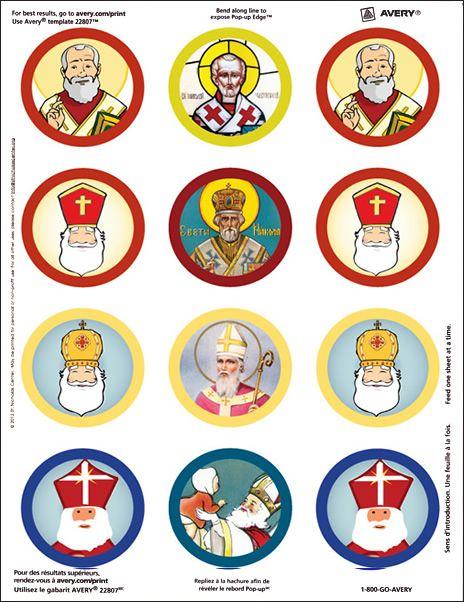 photograph regarding St Nicholas Prayer Printable referred to as Saint Nicholas sticker sheet for cash or in different ways