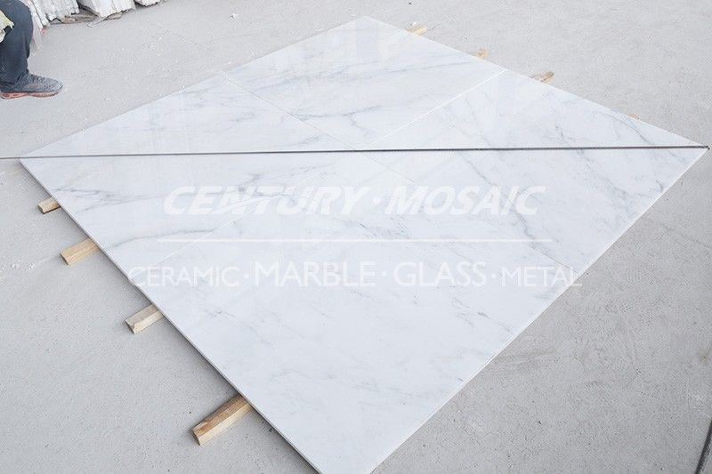 Centurymosaic Inch By Inch Oriental White Marble Tile Marble - 36 inch marble tile