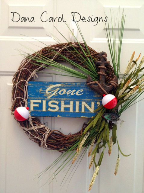 Lake House Door Wreath Decor 48 00 Via Etsy