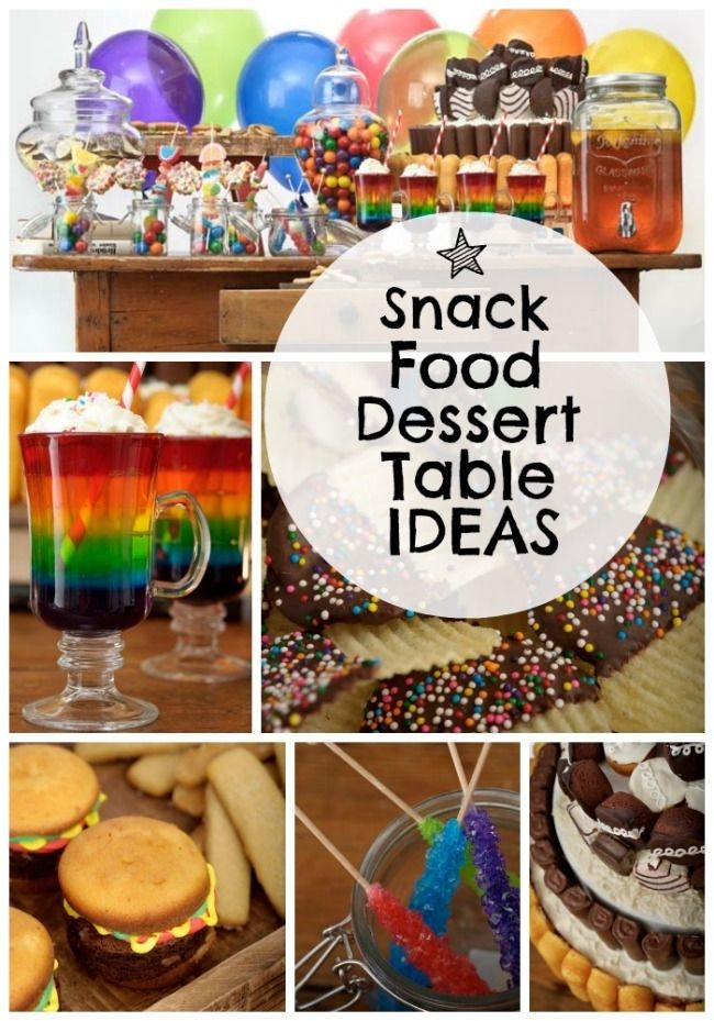 Snack Themed Dessert Table | Snacks, Desserts and Spaceships