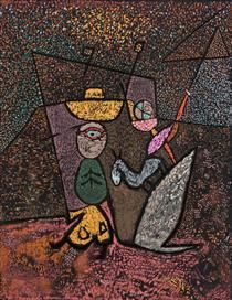 The Travelling Circus (1940) Paul Klee (Swizterland, 1879-1940)