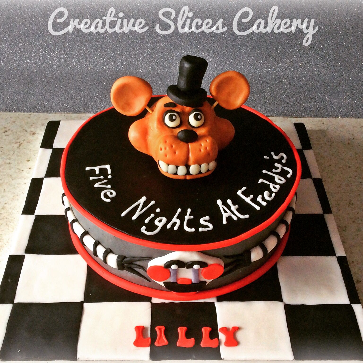 Ideas five nights at freddy party - Five Nights At Freddy S Birthday Cake X
